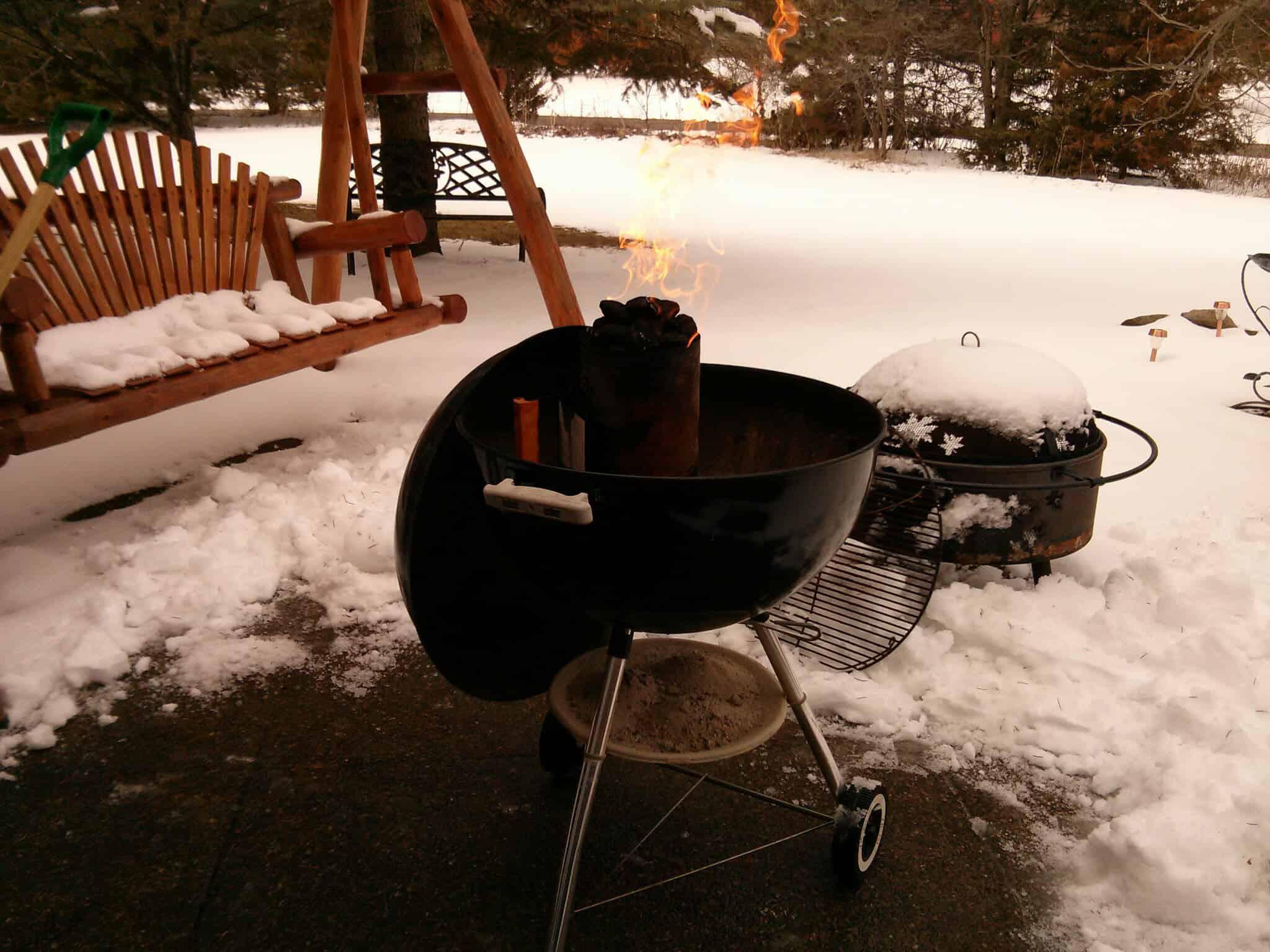 Snowy April Grill