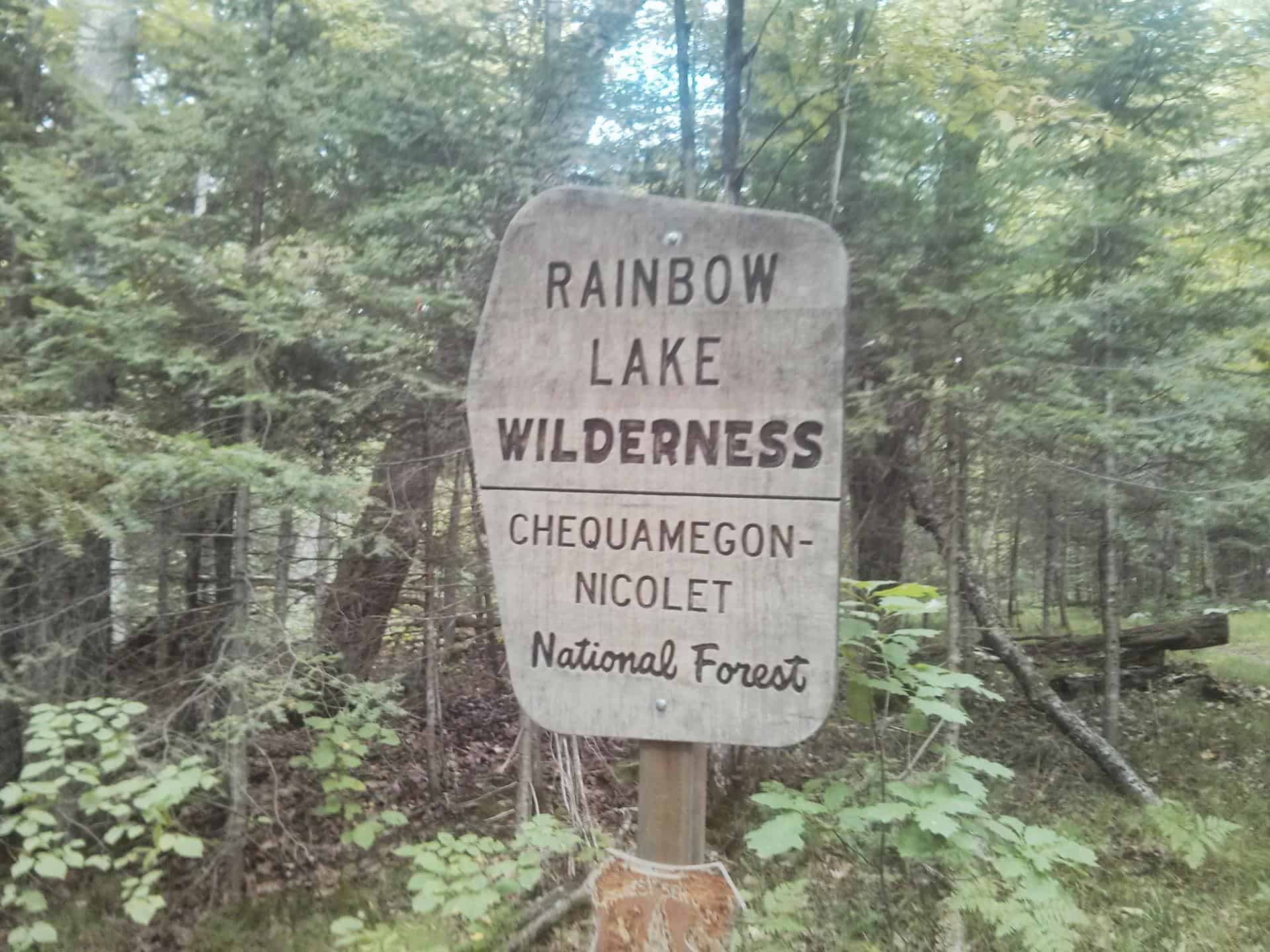Welcome to Rainbow Lake Wilderness.